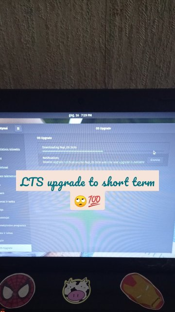 LTS upgrade to short term 🙄💯