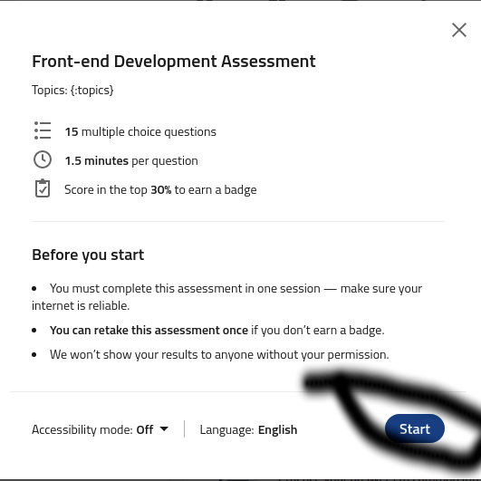 Non workign social media giant job application submission button - additional test taken.